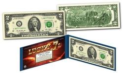LUCKY MONEY 7's * SERIAL # 777 * Genuine Legal Tender U.S. $2 Bill