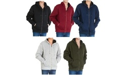 Men's Heavyweight Marled Sweater Sherpa Lined Zip Hoodies (M-2XL)