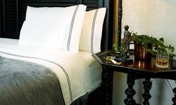 White 300-Count King- or Queen-Size Hamptons 100% Egyptian-Cotton Sheets for 93% off at Royal Bliss Linens