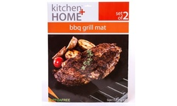 Grill Mats - Set of 2 Non-Stick Heavy Duty Reusable BBQ Grilling Tool