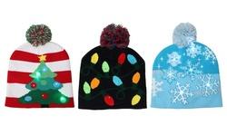 Holiday Fun Flashing LED Colorful Beanies