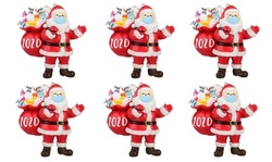 2020 Quarantine Christmas Santa Claus Hanging Ornament (1-, 3-, or 6-Pack)
