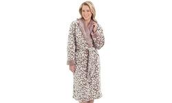 Womens Jacquard Luxury Fleece Terry Robe by EZI