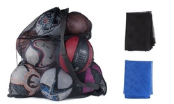 Heavy Duty Mesh Drawstring Sport Equipment Storage Bag for Basketball/Soccer