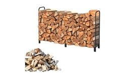 4/6 Feet Outdoor Indoor Wrought Iron Fireplace Firewood Storage Rack