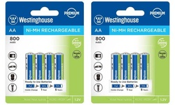 Westinghouse NiMh Rechargeable AA & AAA Batteries (8 or 24 Pack)
