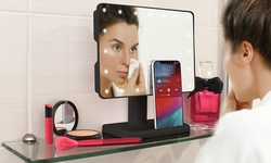 Aduro U-Reflect Vanity Mirror with Built-in Wireless Speaker
