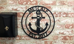 Personalized Laser-Cut Steel Family Name Anchor Sign (USA Made) from Metal Unlimited (57% Off)