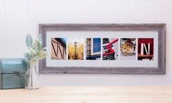 "One, Two, or Three 8""x24"" Framed Names with Wood Frames from Frame the Alphabet (Up to 73% Off)"