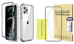 3 in 1 Clear Ultra-Thin Slim&Screen Protector Case For iPhone 12 mini/12 Pro Max