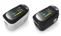 Finger Pulse Oximeter Blood Oxygen Saturation SpO2 Monitor (White, Black)