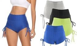 Women High Waist Bike Yoga Shorts Tummy Control Summer Beach Pants Activewear