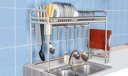 iMounTEK Stainless Steel Over Sink Dish Drying Rack Shelf