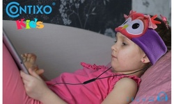 Contixo Kids Fleece Headphones - 85dB Volume Limiting w/ Control Earphones