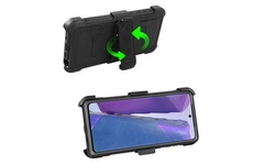 For Samsung Galaxy Note 20 Ultra/Note20 Shockproof Hybrid Case W/Stand Belt Clip