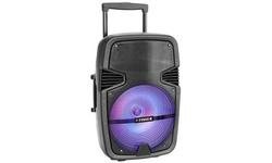 Fisher Bass Jam Portable Speaker 12'' Subwoofer 2600 Watt PMPO Karaoke Input