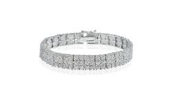 1.00 Carat Diamond Miracle Set 3-Row Tennis Bracelet