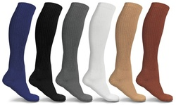 Unisex Graduated Compression Support Socks (6-Pack)