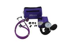 Santamedical Sphygmomanometer w/ Stethoscope Kit - Purple (SPR-210P)