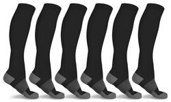 xFit Copper-Infused High-Energy Compression Socks (6 Pairs)