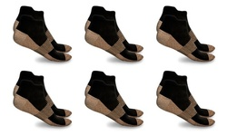 XFit Copper-Infused High-Energy Therapy Socks (6-Pack)