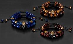 Natural Stone Shocker Tie and Spartan Bead Bracelet Set
