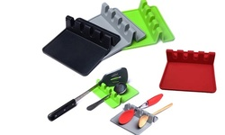 Silicone Spoon Rest with Drip Pad-Comes In 4 Colors