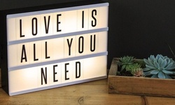 Perfect Gift Light Box to Express Feelings with Letters and Number Titles