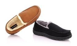 Franco Vanucci Men's Slip-On Moccasin Slipper