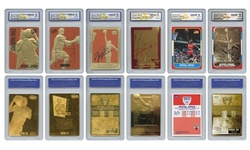 Michael Jordan Mega-Deal Official Licensed Cards - Graded Gem-Mint 10 (SET OF 6)