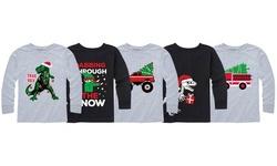 Kids Funny Christmas Long Sleeve Tshirts