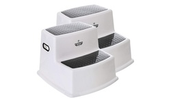 2 Pack) Dual Height Step Stool for Toddlers & Kids