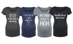 Bloom Maternity: My New Name is Mom Scoop Neck Tees