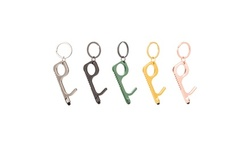 Touch-Free Door Opener Multi Purpose Key Chain Easy To Use (1-, 2-, or 5-Pack)