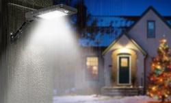 SolarEK Waterproof 60-LED PIR Motion Sensor Remote Control Solar Wall Light