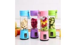 Mini USB Electric Portable Fruit Juicer Mixer Bottle 2 Vane 380ml Blender Mixer