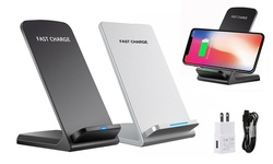 Qi Wireless Fast Charger Charging Stand Dock Pad For Apple iphone X 8 Samsung
