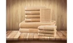 100% Combed Cotton 10 Piece Chevron Bath Towel Set