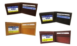 Genuine Leather Trifold & Bifold Mens Wallets