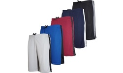 Real Essentials Men's Mesh Active Shorts with Pockets (5-Pack) (S-2XL)