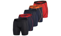 5-Pack Mens Compression Shorts Men Quick Dry Performance Athletic Shorts (S-2XL)