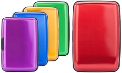 Miami CarryOn Metallic RFID Wallet, Secure Aluminum Credit Card Holder