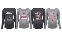 Bloom Maternity: Expecting for Holidays Reveal Long Sleeve Tees