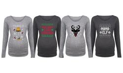 Bloom Maternity: Ugly Christmas Sweater Long Sleeve Tees