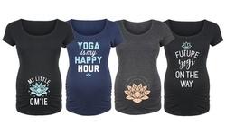 Bloom Maternity: Yoga is my Happy Hour Tees