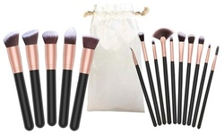 Professional Cosmetic Makeup Brush Set with Storage Pouch (16-Piece)