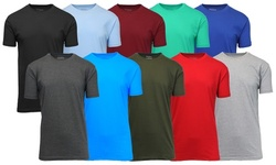 3-Pack Galaxy By Harvic Men's Short Sleeve Crew Neck Fitted Tee (M-2XL)