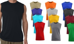 Mens Crew Neck Muscle Tank Top 5 Pack Mystery Deal