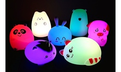 Tap or Slap Color-Changing Touch or Remote Animal Night Lights for Toddlers/Kids