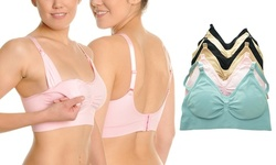 Angelina Seamless Nursing Bras with Ruched Cups (6 Pack)